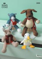 3000 Knitting Pattern - Soft Toys