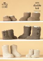 3275 Knitting Pattern - Double Knit - Slippers