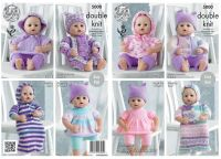 5000 Knitting Pattern - Dolls Clothes