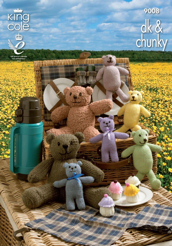 9008 Knitting Pattern DK & Chunky (Teddy Bears' Picnic)