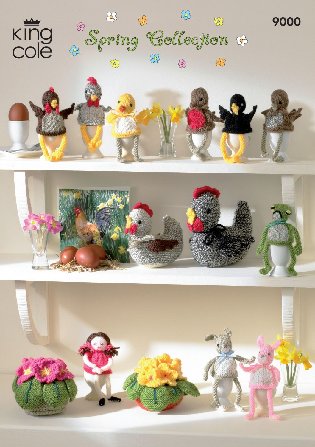 9000 Knitting Pattern - Spring Collection (Easter)