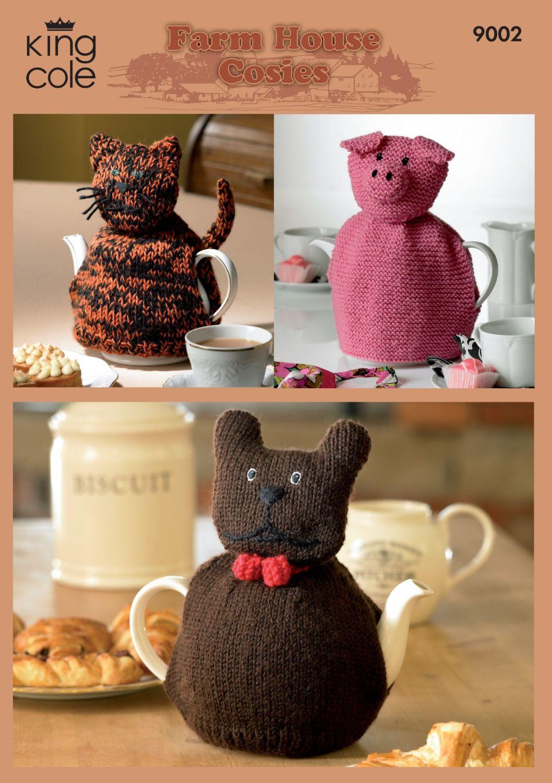9002 Knitting Pattern - Farm House Cosies (Tea Cosies)