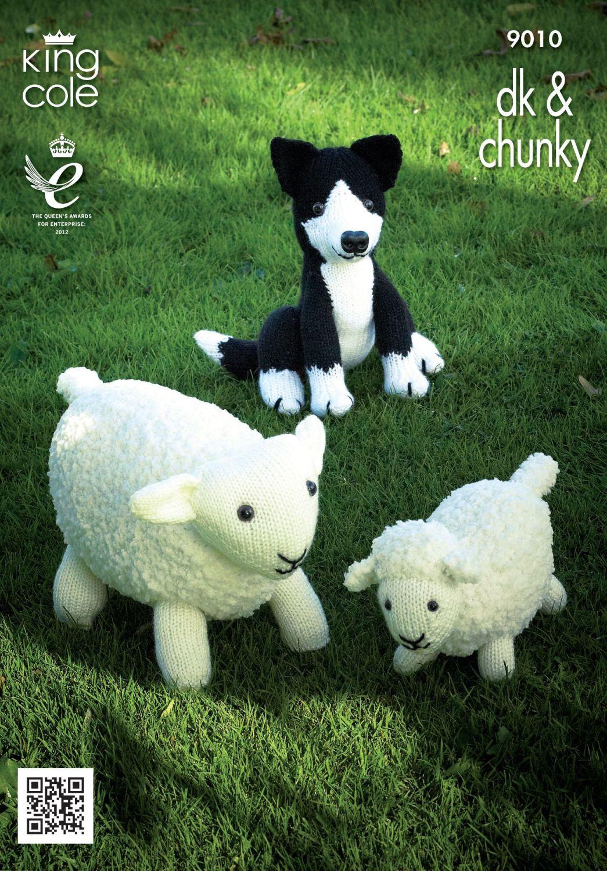 9010 Knitting Pattern Double Knit - Sheep, Lamb and Sheepdog Toys
