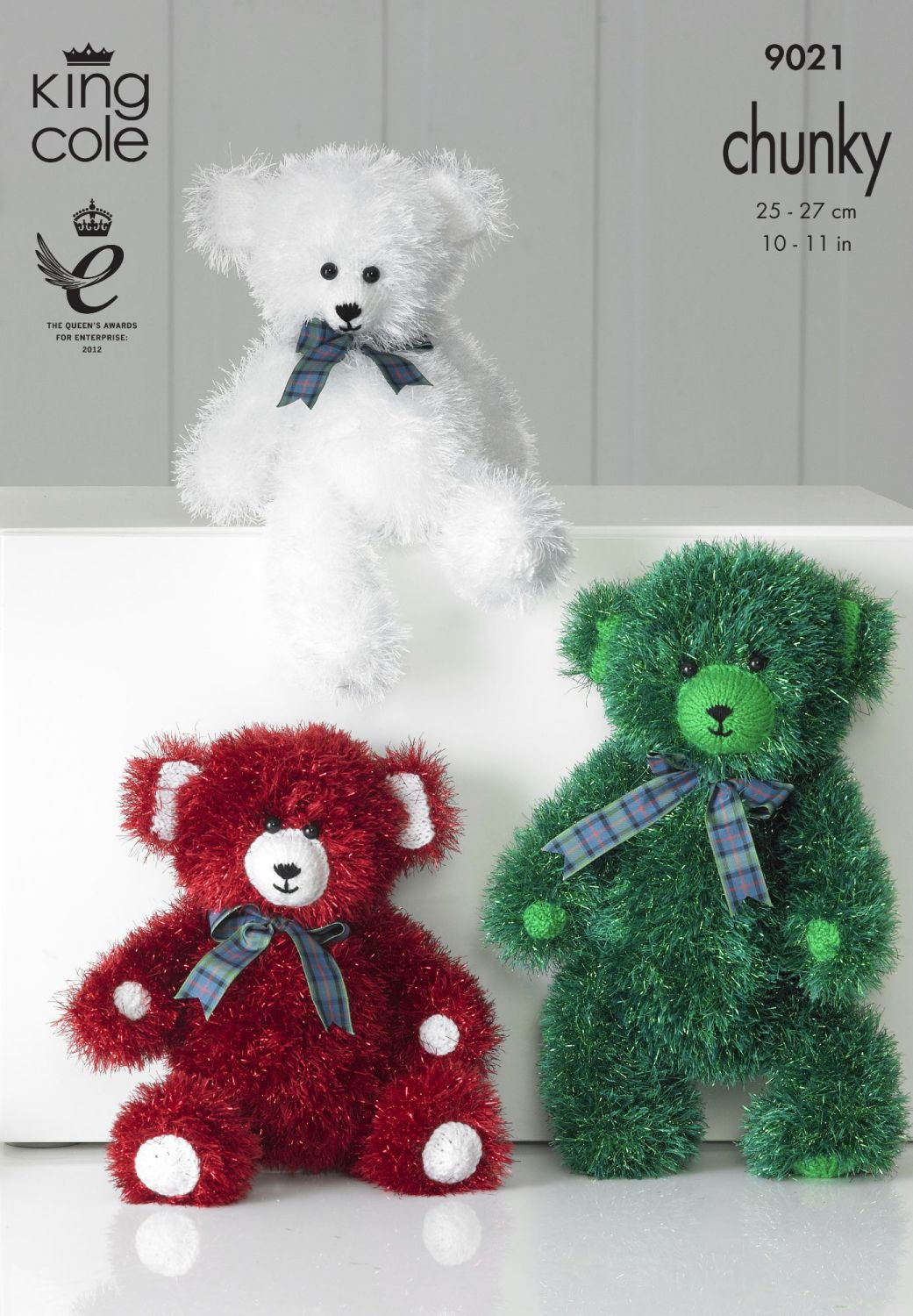 9021 Knitting Pattern - Tinsel Chunky Teddy