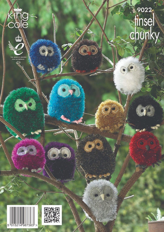 9022 Knitting Pattern - Tinsel Chunky, Owl