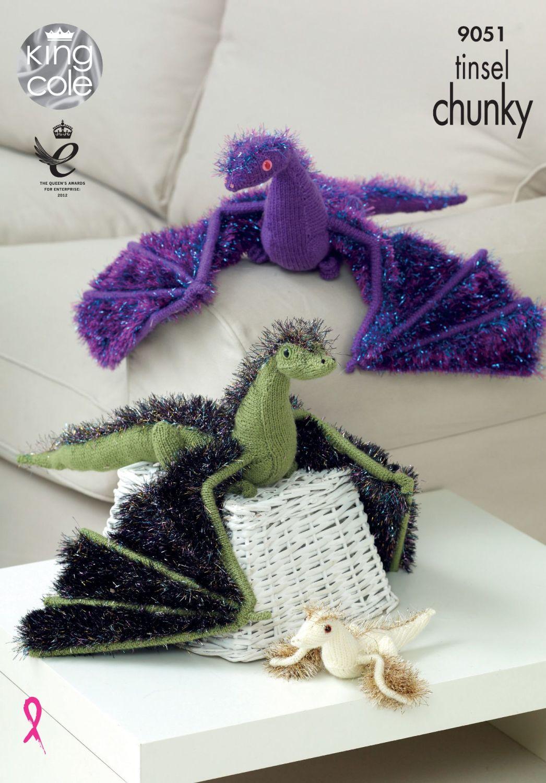 9051 Knitting Pattern - Dragon