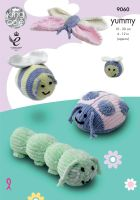 9060 Knitting Pattern - Yummy Bugs