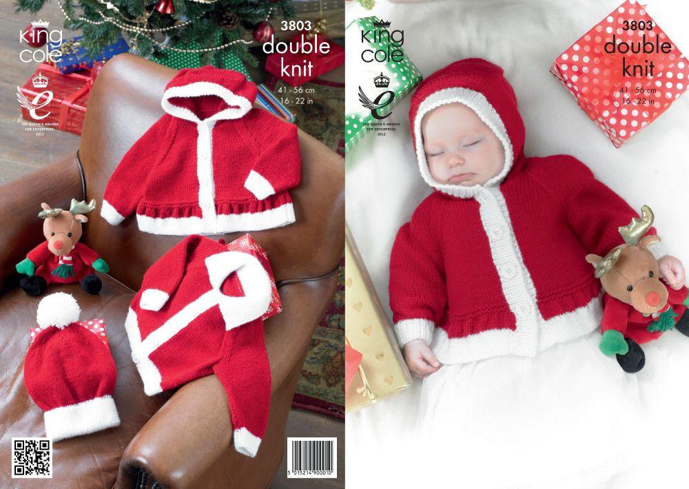 3803 Knitting Pattern - DK (Babies - Christmas) 16 - 22
