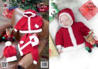 "3803 Knitting Pattern - DK (Babies - Christmas) 16 - 22"""