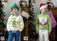 "3807 Knitting Pattern - DK (Childrens - Christmas) 20 - 30"""