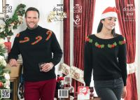 "3809 Knitting Pattern - DK (Adult Christmas) 28/30 - 44/46""*"