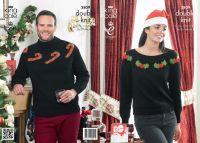 "3809 Knitting Pattern - DK (Adult Christmas) 28/30 - 44/46"""