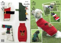 4115 Knitting Pattern in DK - Christmas Dog Coat