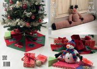 9009 Knitting Pattern DK & Chunky - Christmas
