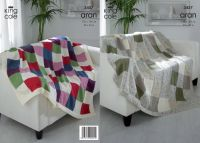 3457 Aran Knitting Pattern - Throw