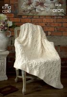 3458 Aran Knitting Pattern - Throw