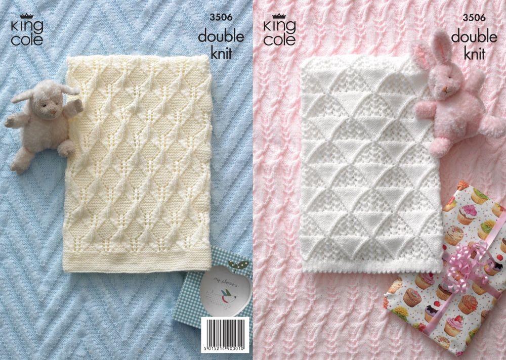 3506 Knitting Pattern DK - Babies Blankets