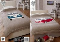 4323 Knitting Pattern in Super Chunky - Camper Van Bed Spread