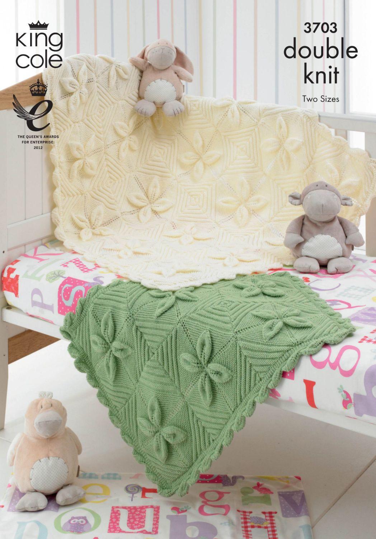 3703 knitting Pattern DK - Blankets