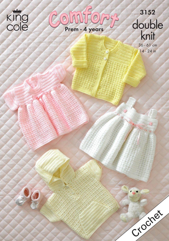 3152 Crochet Pattern DK - Babies 14 - 24