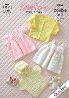 """3152 Crochet Pattern DK - Babies 14 - 24"""""""