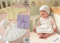 "3251 Crochet Pattern -Babies Double Knit 14"" - 24"""