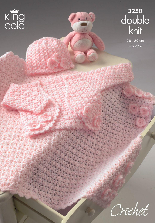 3258 Crochet Pattern DK - Babies 14 - 22