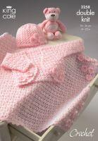 """3258 Crochet Pattern DK - Babies 14 - 22"""""""