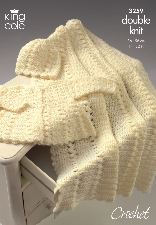 3259 Crochet Pattern DK - Babies 14 - 22