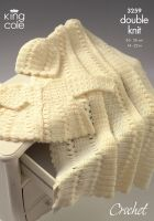 """3259 Crochet Pattern DK - Babies 14 - 22"""""""