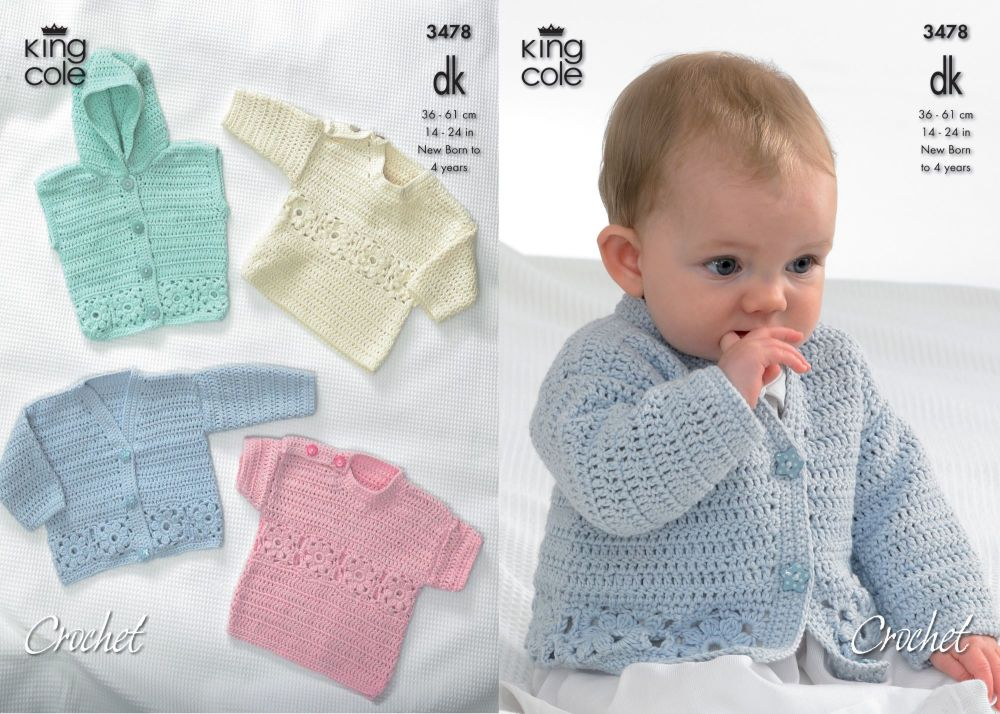 3478 Crochet Pattern - Double Knit 14-24