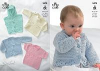"3478 Crochet Pattern - Double Knit 14-24"" Newborn to 4 years"