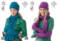 3650 Knitting Pattern DK - Ladies Hats, Scarfs & Gloves