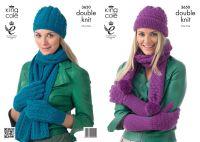 3650 Knitting Pattern DK - Ladies Hats, Scarfs & Gloves