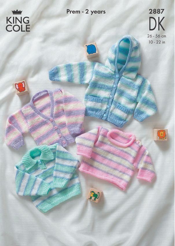 2887 DK - Knitting Pattern (Babies)