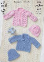 """3928 Knitting Pattern DK - Babies 12-20"""""""