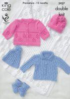3927 Knitting Pattern DK - Babies 12-20