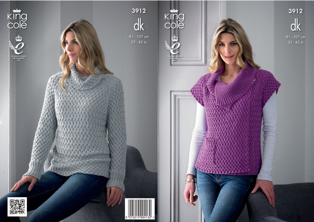3912 Knitting pattern - Ladies DK 32