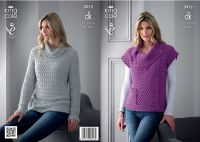 "3912 Knitting pattern - Ladies DK 32"" - 42"""
