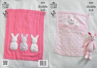 4006 Knitting Pattern DK - Bunny Baby Blanket