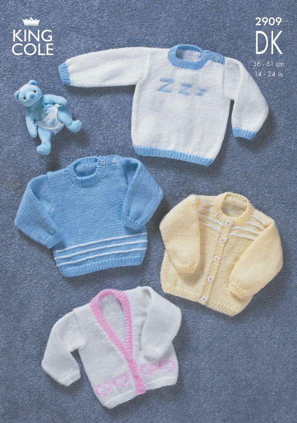 2909 DK - Knitting Pattern Babies