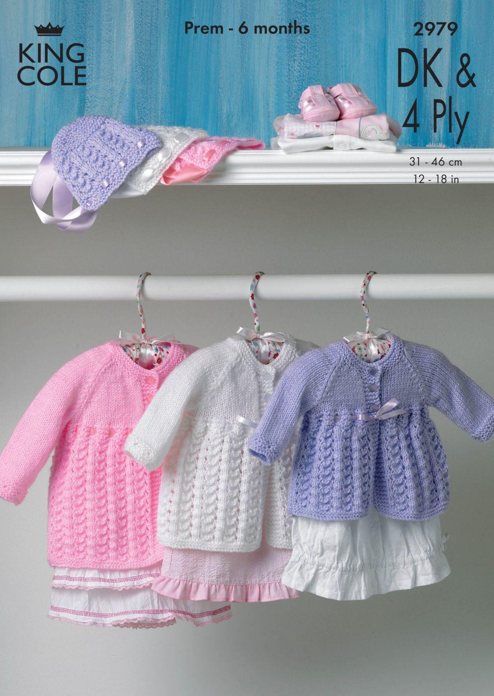 2979  DK & 4PLY - Knitting Pattern Babies