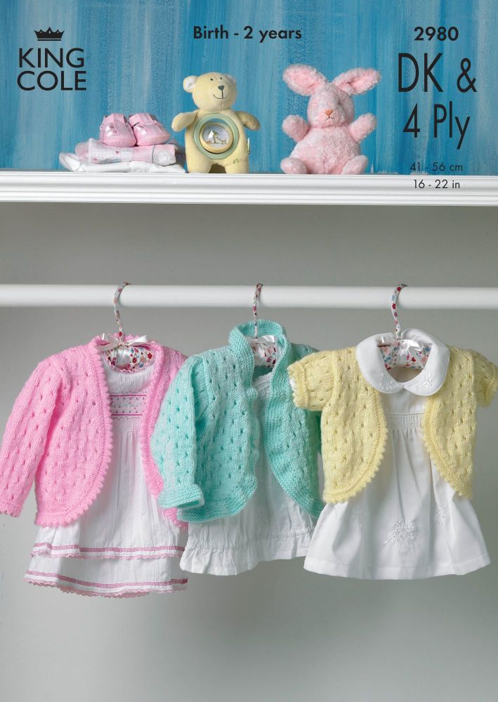 2980  DK & 4PLY - Knitting Pattern Babies