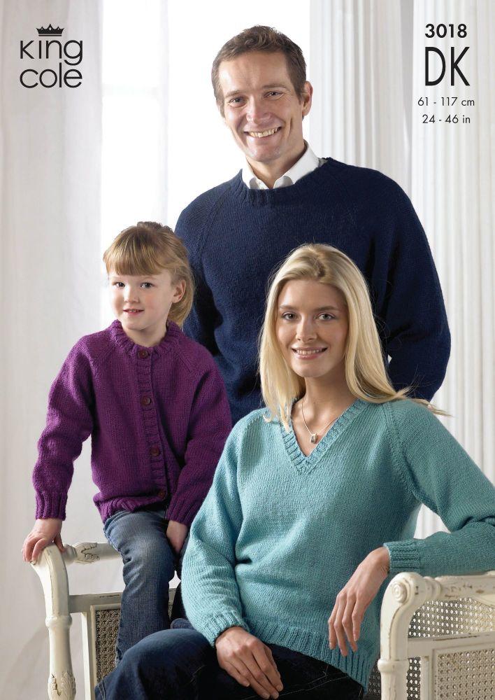 3018 DK - Knitting Pattern Ladies, Men's and Children's