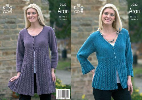 3022 Knitting Pattern - Ladies Aran
