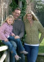 3023 Knitting Pattern - Men's, Women's and Children's Aran