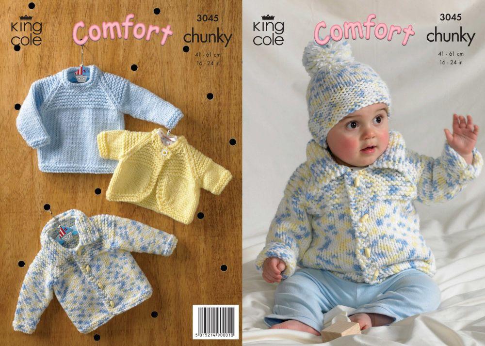 3045  Comfort Chunky - Babie's  Knitting Pattern