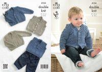 """4154 Knitting Pattern - 14 - 22"""" Babies DK"""