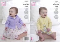 "5257 Knitting Pattern - 16 - 26"" Babies Double Knit (EASY KNIT)"