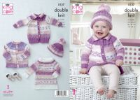"5137 Knitting Pattern - 18"" - 24"" Double Knit (6 Months - 6 Years)"